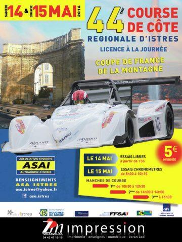 Affiche Course de Côte d'Istres 2016