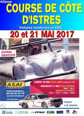Affiche Course de Côte d'Istres 2017