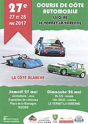 Affiche Course de Côte d'Issoire - Le Vernet-la-Varenne 2017