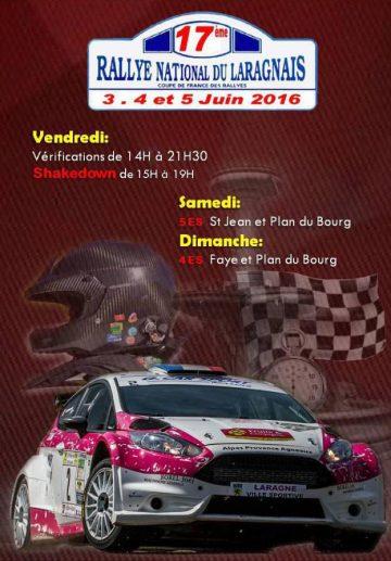 Affiche Rallye du Laragnais 2016