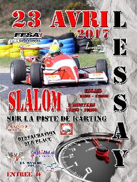 Affiche Slalom de Lessay 2017