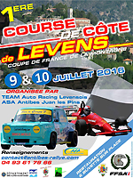 Affiche Course de Côte de Levens 2016