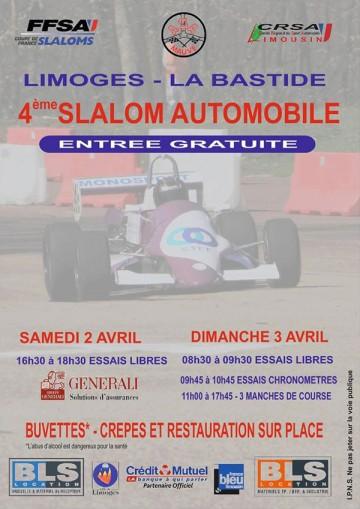 Affiche Slalom de Limoges – La Bastide 2016