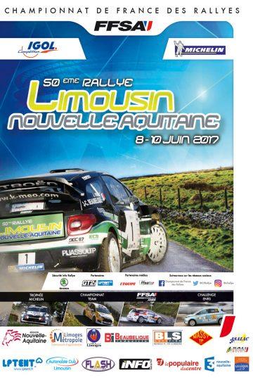 Affiche Rallye du Limousin 2017