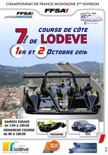 Affiche Course de Côte de Lodève 2016