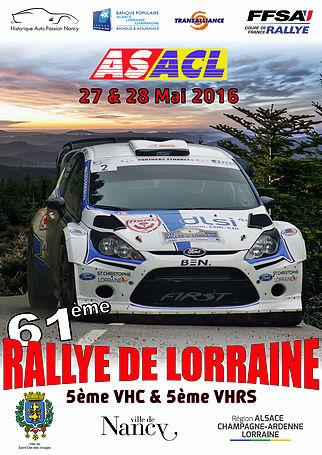 Affiche Rallye de Lorraine 2016