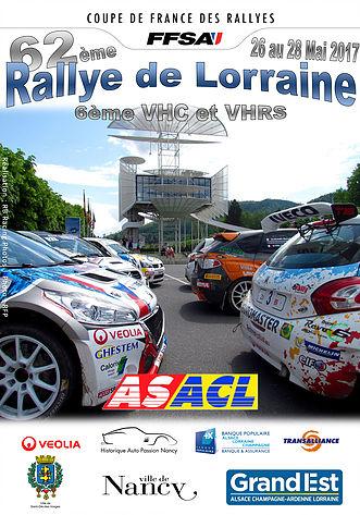 Affiche Rallye de Lorraine 2017