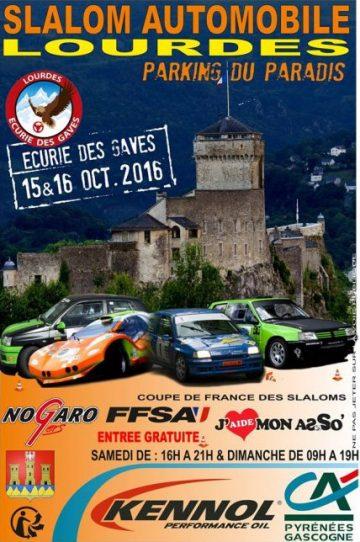 Affiche Slalom de Lourdes 2016