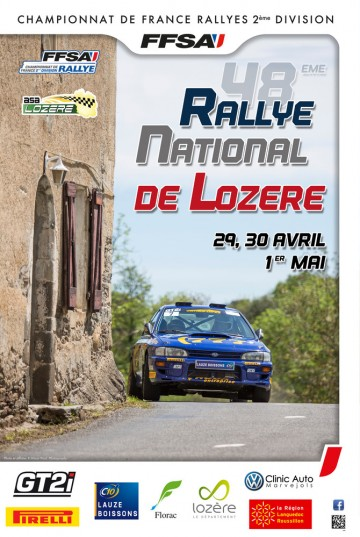Affiche Rallye de Lozère 2016