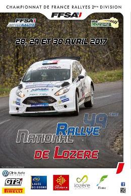 Affiche Rallye de Lozère 2017