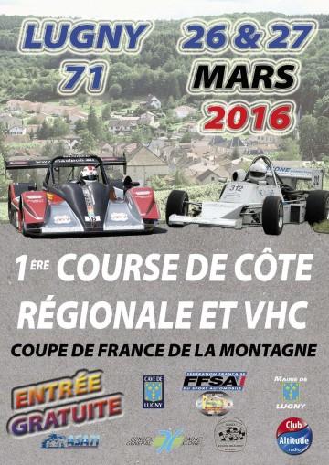 Affiche Course de Côte de Lugny 2016