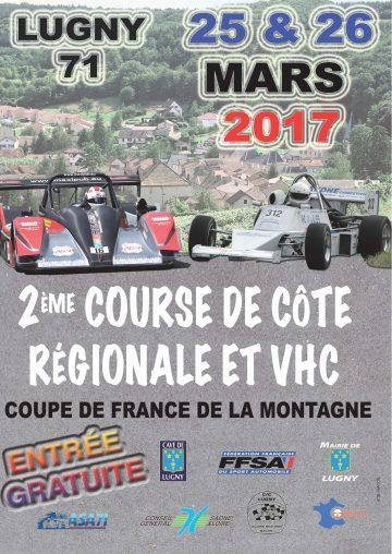 Affiche Course de Côte de Lugny 2017