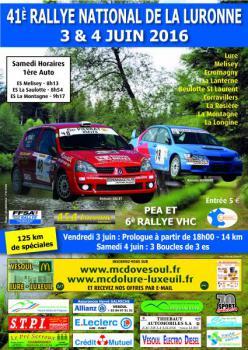 Affiche Rallye de la Luronne 2016
