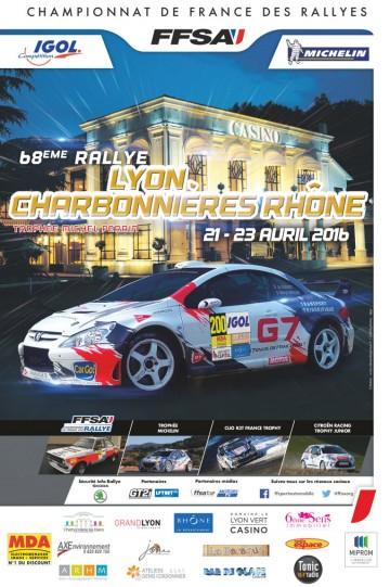 Affiche Rallye Lyon Charbonnières 2016