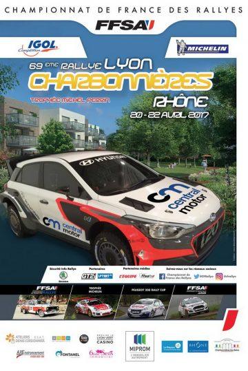 Affiche Rallye Lyon Charbonnières 2017