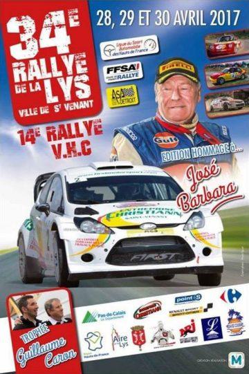 Affiche Rallye de la Lys 2017