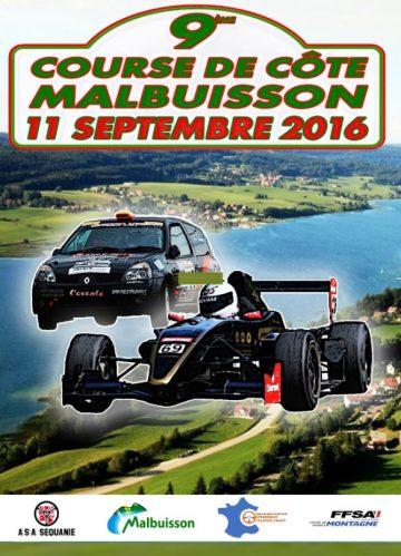 Affiche Course de Côte de Malbuisson 2016