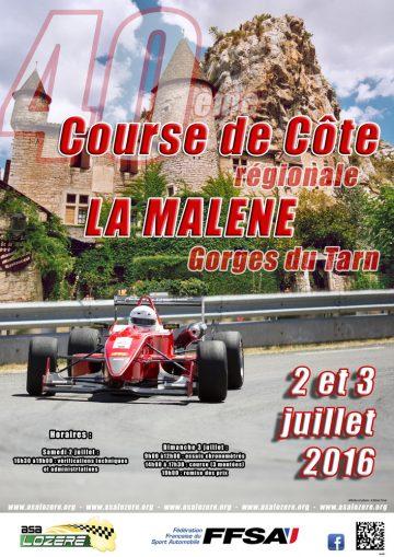 Affiche Course de Côte de La Malène 2016