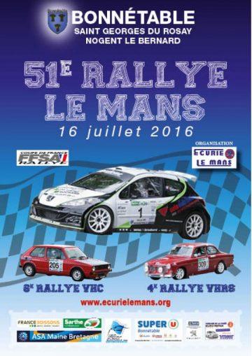 Affiche Rallye Le Mans 2016
