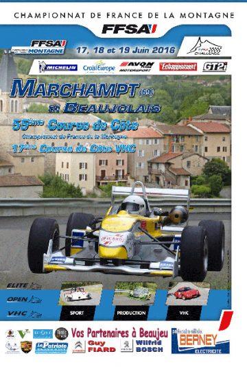 Affiche Course de Côte de Marchampt en Beaujolais 2016
