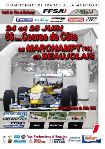 Affiche Course de Côte de Marchampt en Beaujolais 2017