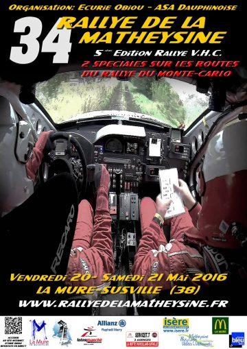 Affiche Rallye de la Matheysine 2016