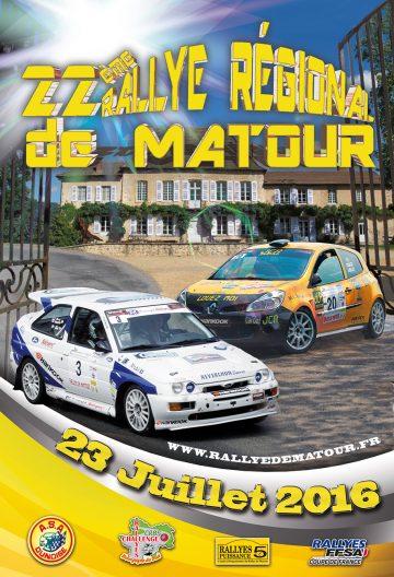 Affiche Rallye de Matour 2016