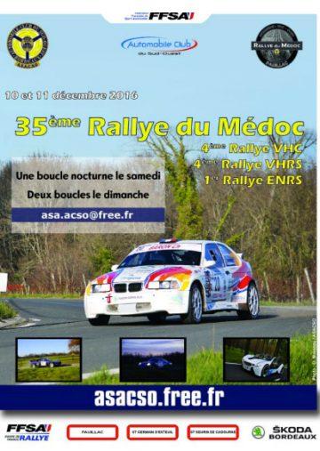Affiche Rallye du Médoc 2016