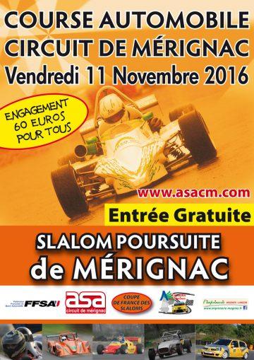Affiche Slalom de Mérignac 2016