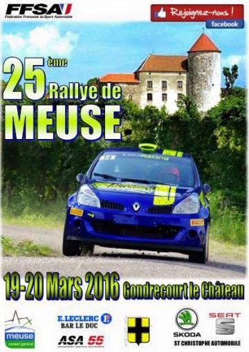 Affiche Rallye de Meuse 2016