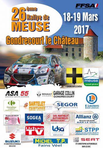 Affiche Rallye de Meuse 2017
