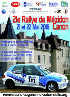 Affiche Rallye de Mézidon-Canon 2016