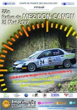 Affiche Rallye de Mézidon-Canon 2017