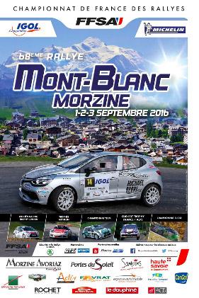 Affiche Rallye du Mont-Blanc 2016