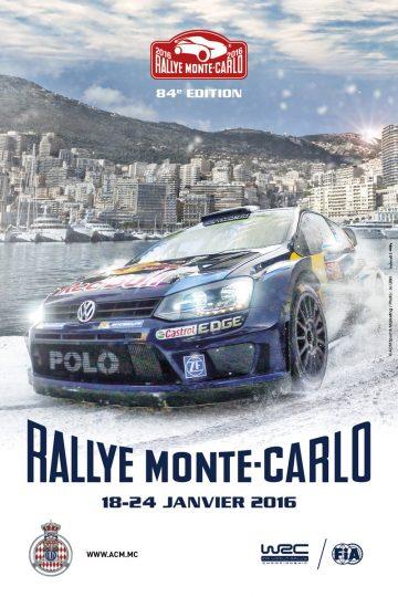 Affiche Rallye Monte-Carlo 2016