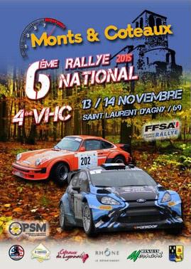 Affiche Rallye Monts et Coteaux 2015