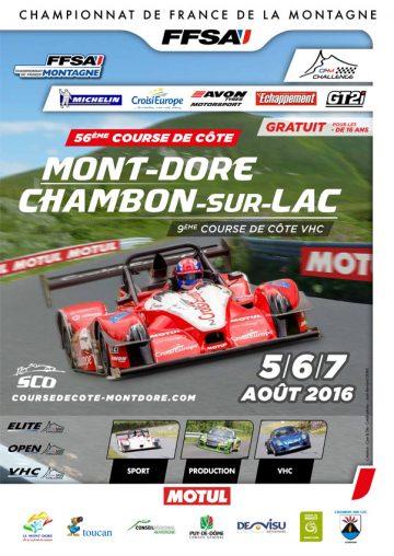 Affiche Course de Côte du Mont-Dore 2016