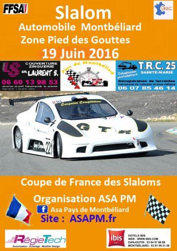Affiche Slalom de Montbéliard 2016