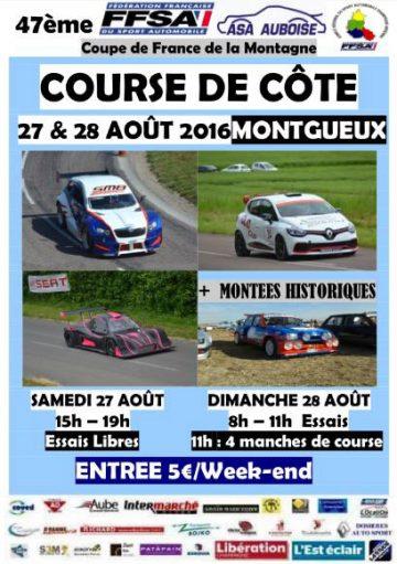 Affiche Course de Côte de Montgueux 2016