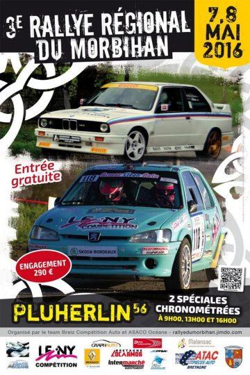 Affiche Rallye du Morbihan 2016