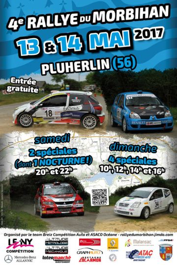 Affiche Rallye du Morbihan 2017