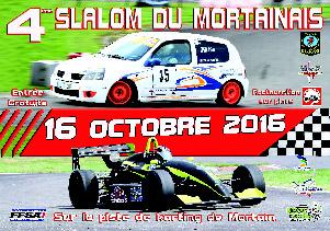Affiche Slalom du Mortainais 2016