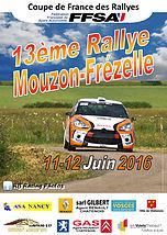 Affiche Rallye Mouzon Frézelle 2016