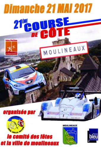 Affiche Course de Côte de Moulineaux 2017