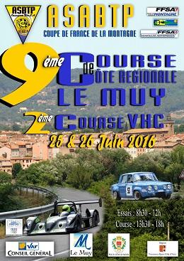 Affiche Course de Côte du Muy 2016