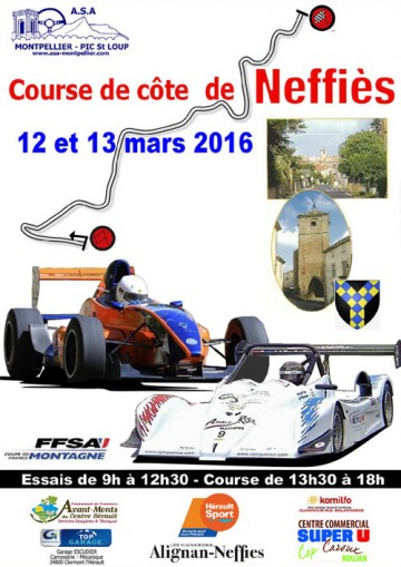 Affiche Course de Côte de Neffiès 2016