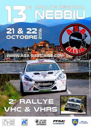 Affiche Rallye du Nebbiu - Saint-Florent 2016