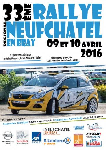Affiche Rallye de Neufchâtel-en-Bray 2016 (76)