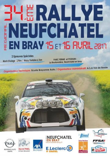 Affiche Rallye de Neufchâtel-en-Bray 2017