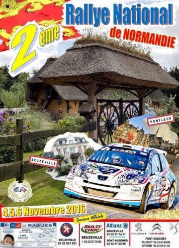 Affiche Rallye de Normandie 2016
